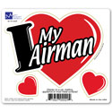 I Love My Airman 3-in-1 Car Magnet, MAGILMA