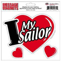 I Love My Sailor 3-in-1 Car Magnet, MAGILMS