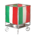 Italy Flag Votive Holder, MAKITALS