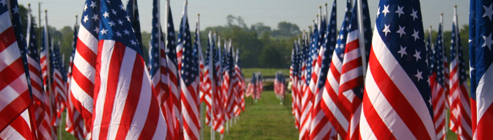 Honor those who fought for our freedoms this memorial day by placing a memorial stick flag.