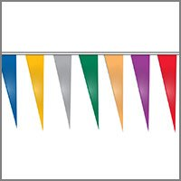 Metallic String Pennants