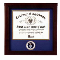 Air Force Certificate Of Achievement Frame