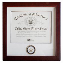Navy Certificate Of Achievement Frame
