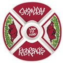 Arkansas Razorbacks Melamine Veggie Platter, ML23001