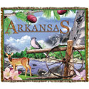 Arkansas Tapestry Throw Blanket, MSD0827TU4