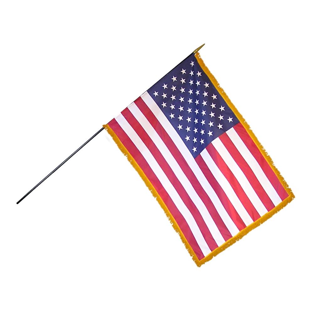 "Marines USMC Black w// USA American Gold Fringe Flag 4/""x6/"" Desk Set Black Base"