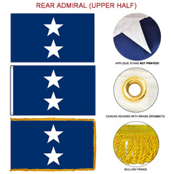 Navy Rear Admiral Upper Half Flags, FBPP0000011119