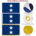 Navy Rear Admiral Upper Half Flags