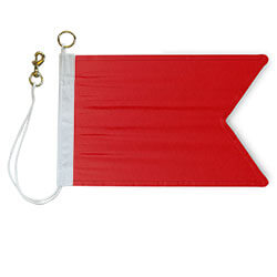 Nylon Rope Metal 'B' International Code Signal Flag, FBPP0000009226