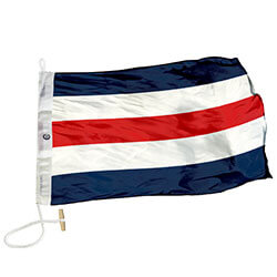 Nylon Rope Wood 'C' International Code Signal Flag, FBPP0000009308