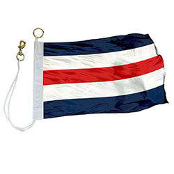 Nylon Rope Snap Hook 'C' International Code Signal Flag, FBPP0000009307