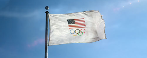 Team USA Olympic Flag