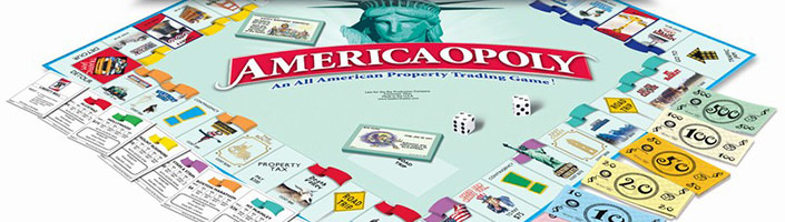 Americaopoly is America's favorite board game. Get yours today for loads of family fun.