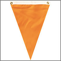 Single Pennants with Oranges