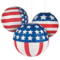 Patriotic Flag Paper Lanterns, OTC13696208