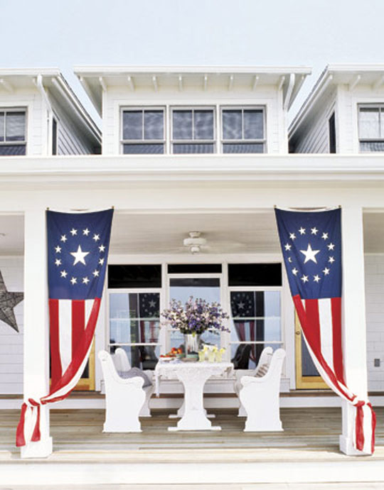 creative ways to display your u s  flags  and decorate outdoors