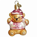 Girl Baby's 1st Christmas Ornament, OWC12065G