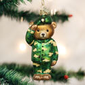 Army Bear Ornament, OWC12402