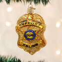 Police Badge Ornament, OWC36129