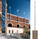 Commercial Vertical Wall-Mount Tapered Shaft Flagpole, FBPP0000012524