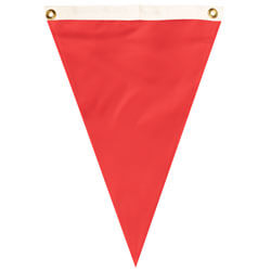 Nylon Bright Red Single Pennant, FBPP0000012058