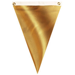 Nylon Gold Lame' Single Pennant, FBPP0000012077