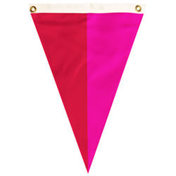 Nylon Magenta-Red Bi-Color Single Pennant, FBPP0000009708