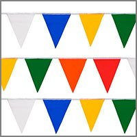 Colorful String Pennant Flags - String Flags or String Pennants