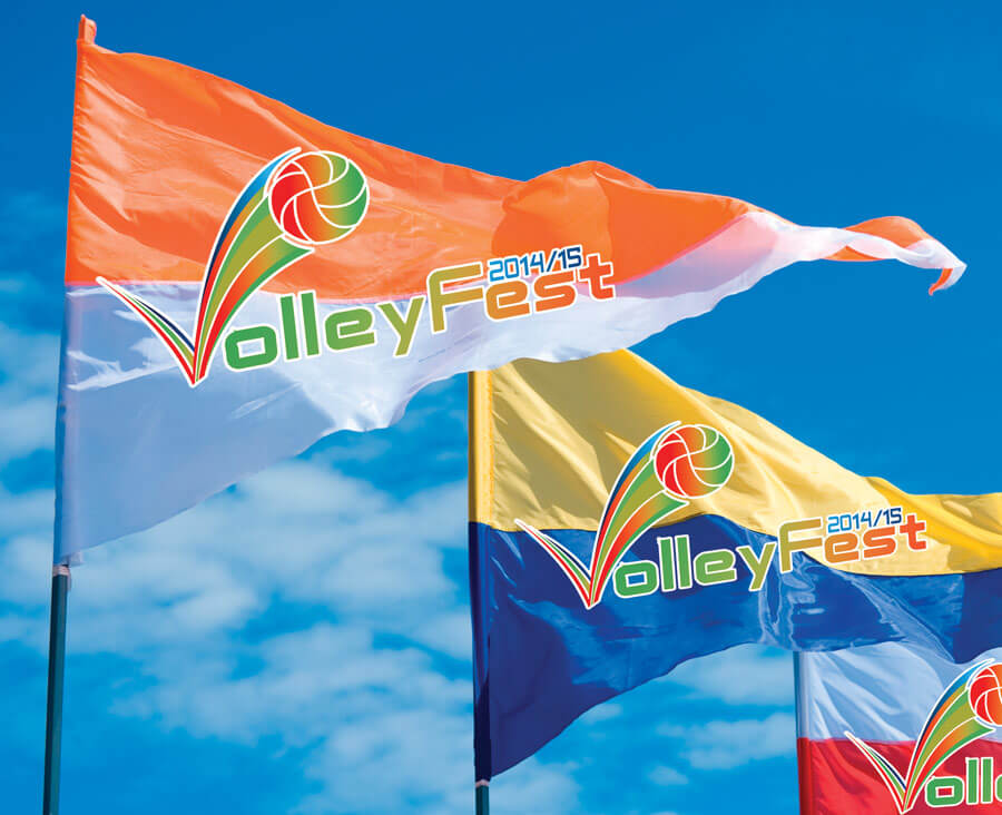Digitally Printed Pennant Shaped Flags