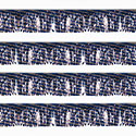 Blue/Silver Striped Starburst String Pennants