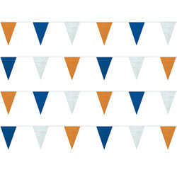 Blue/White/Orange Heavy Duty String Pennants, FBPP0000009775
