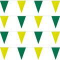 4-Mil Polyethylene Green-Yellow String Pennants