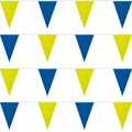Blue/Yellow Heavy Duty String Large Pennants