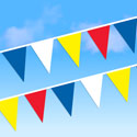 Red Blue White Yellow String Pennants