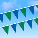 Blue and Green String Pennants