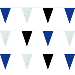Blue White Black String Pennants, PENNSPC50BWB