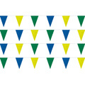 Blue, Yellow, Black String Pennants, PENNS123BYG