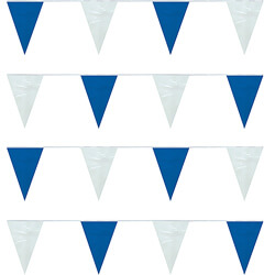 Blue/White Heavy Duty String Large Pennants, FBPP0000009765