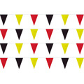 Red Black Yellow String Pennants