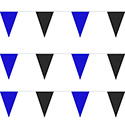 Blue & Black String Pennants, PENNS120BB