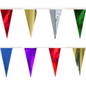 Assorted Colors String Pennants Metallic, PENNSCR618R