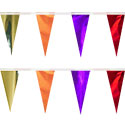 Purple Orange Gold Red String Pennants, PENNSCR618POYR
