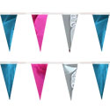 Pink Silver Turquoise String Pennants, PENNSCR6BY