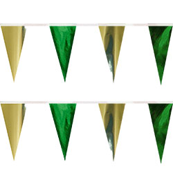 Green Gold String Pennants, PENNSCR6I