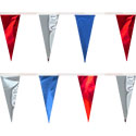 Red Silver Blue String Pennants, PENNSCR6K