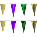 Green Gold Purple String Pennants, PENNSCR6M