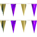 Purple Gold String Pennants, PENNSCR6R