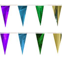 Gold Purple Turquoise Green String Pennants, PENNSCR6W