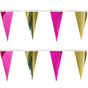 Pink Gold String Pennants, PENNSCR6XC