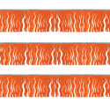 Orange Fiesta Fringe String Pennants, PENNSFP6I